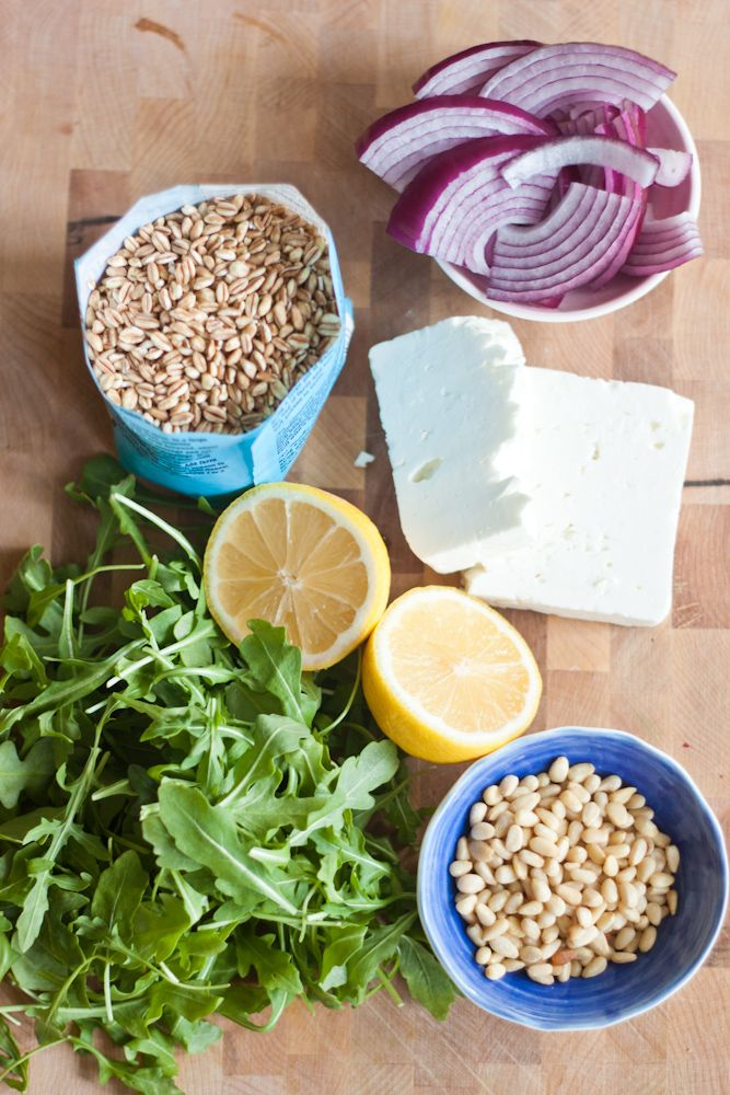 Farro Salad with Herb Vinaigrette | Recipes for Everything! | Pintere ...
