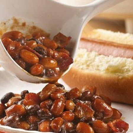 Slow Cooker Barbecue Baked Beans | Salads and sides | Pinterest