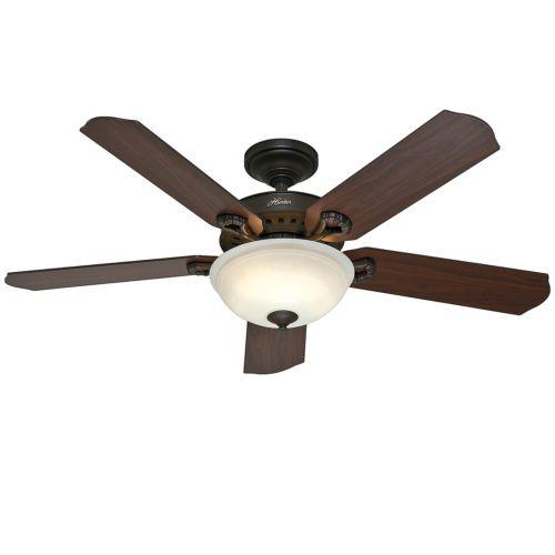 hunter 52 new bronze ceiling fan with light remote control 5 bl. Black Bedroom Furniture Sets. Home Design Ideas
