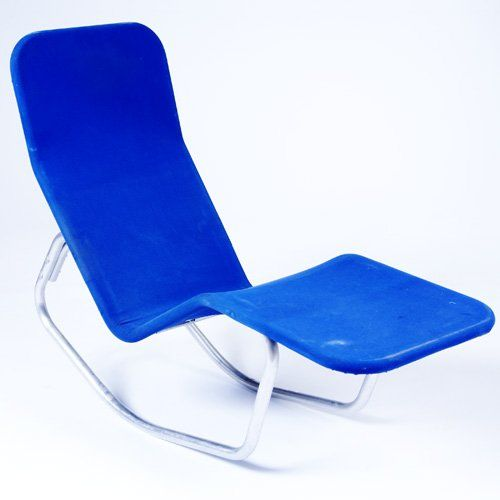 Ralph elliott aluminum chaise longue for barwa 1950s