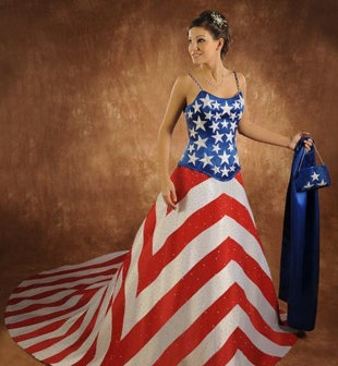 The great American wedding gown