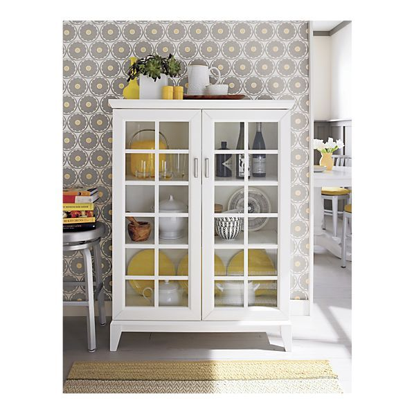 Paterson white 36 5 two door cabinet for Sherwin williams wallpaper
