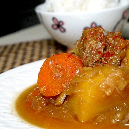 Meat & Potato stew) | This is a very traditional Japanese beef stew ...