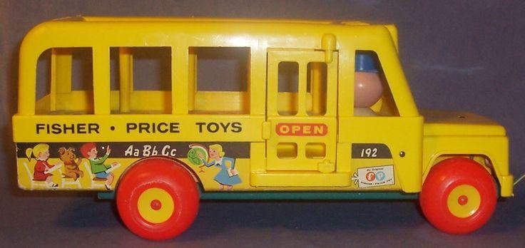 school bus fisher price vintage pinterest. Black Bedroom Furniture Sets. Home Design Ideas