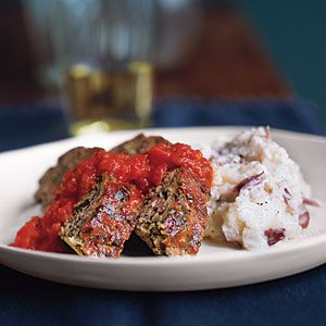 Turkey Meat Loaf with Mashed Potatoes | Recipe