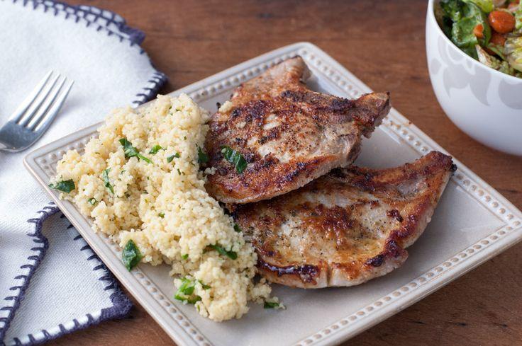 Plain Jane Supper a.k.a. Easy Pan-Seared Pork Chops - The Kitchen Snob