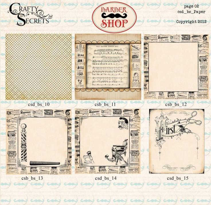 Barber Shop Erie Pa : Paper Preview 2 For Barber Shop Digital Kit From Vintage Short ...