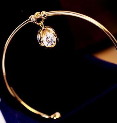 Shiny Diamond Ball Bangle | LilyFair Jewelry, $21.99!
