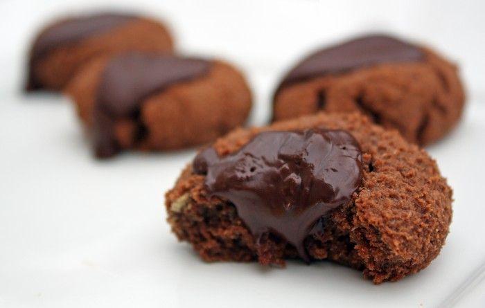 Chocolate Thumbprint Cookies with coconut oil, coconut flour, eggs ...