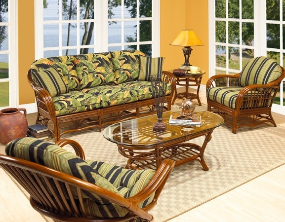 Tropical style living room set nautical decor ideas for Tropical living room furniture