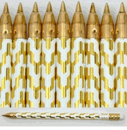 Set of 14 pens zig zag pattern gold from iomoi, $20 (temporarily out of stock, but when they are back I think I *must* have them.)