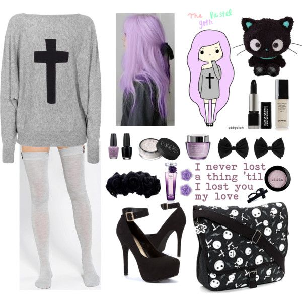 The Pastel Goth by naibee17 on Polyvore