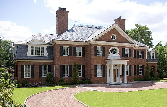 Pin by taylor siegel on home sweet home pinterest for Brick georgian homes