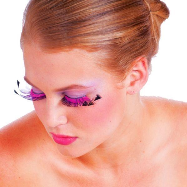 Pink & Purple False Eyelashes