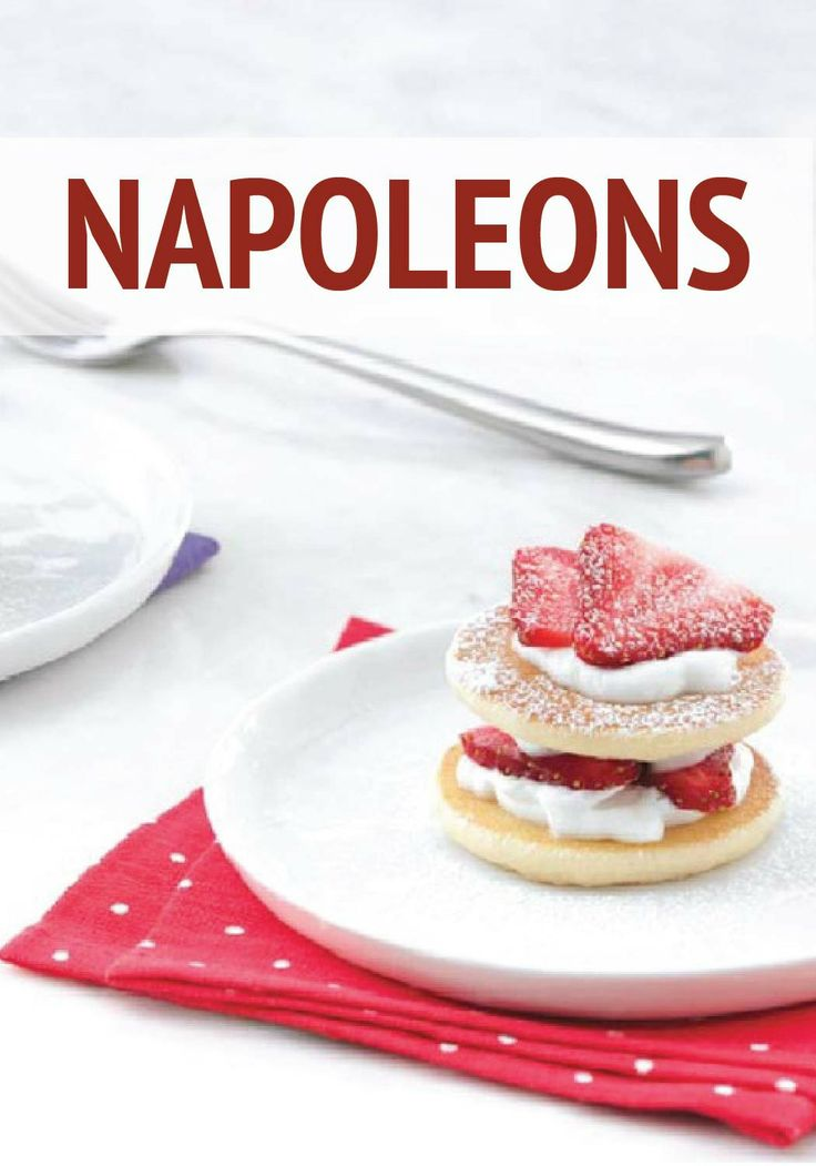 ... Napoleon desserts are made easy with Eggo Mini Buttermilk Pancakes