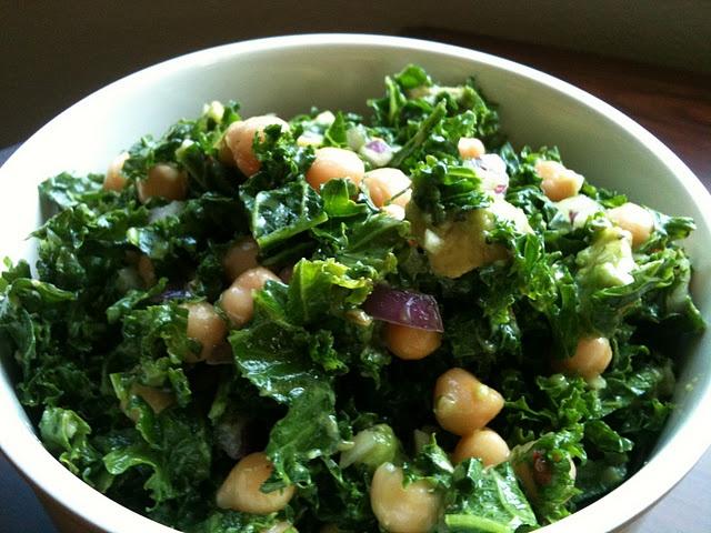 chickpea, avocado & kale salad | Salad | Pinterest