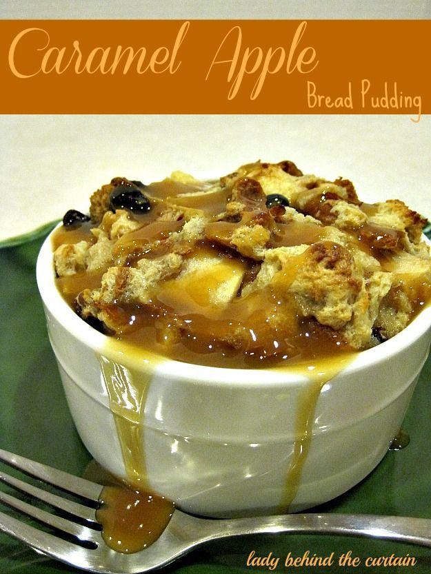 Spiced Caramel-Apple Bread Pudding Recipe — Dishmaps