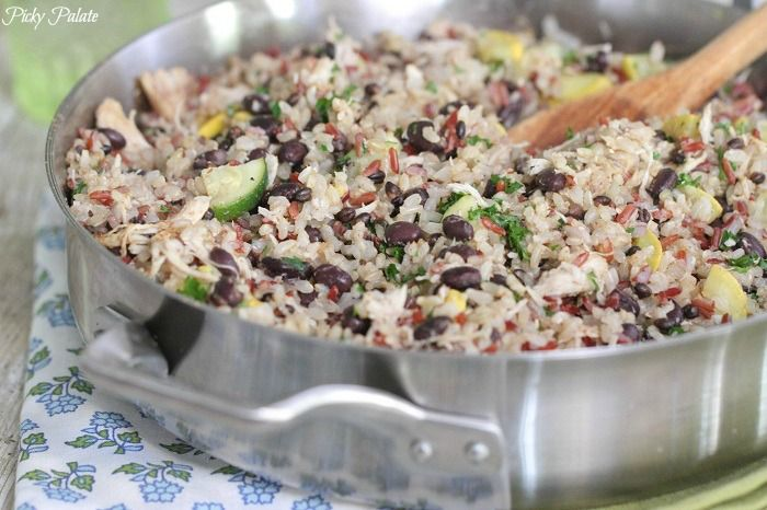 Chicken and Black Bean Smoky Rice Skillet--could be an easy weeknight ...