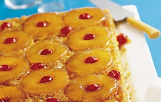 Pineapple Upside Down Cake with Star Extra Light Olive Oil