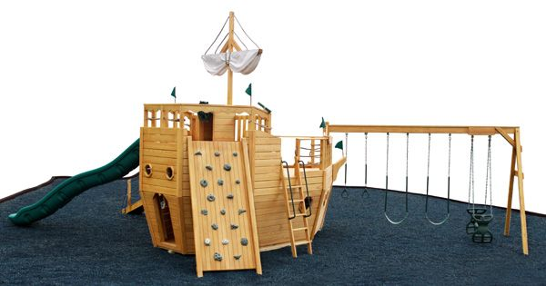 911 pirate ship playhouse playset papa projects pinterest - Wooden pirate ship playhouse ...