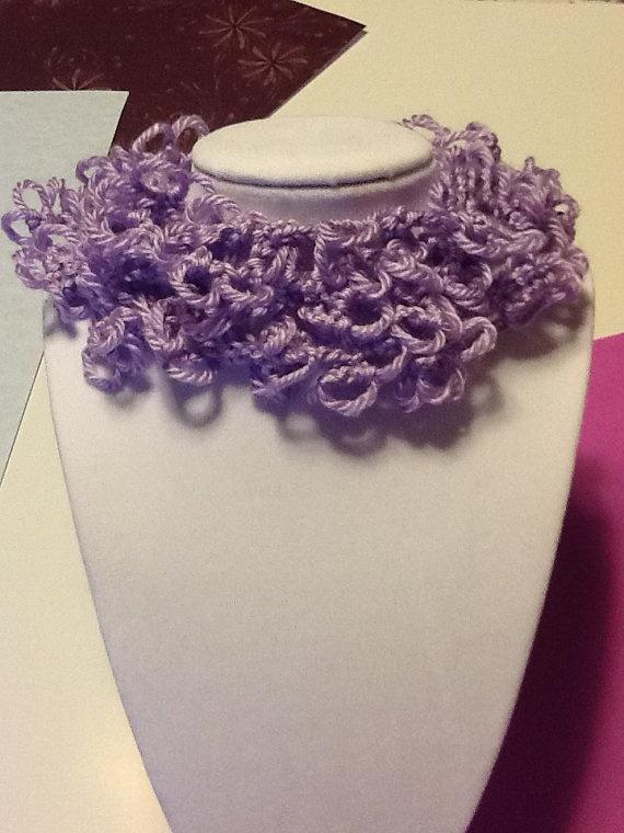Handmade Crochet : Spring Summer Handmade Crochet Necklace by joywelry2love on Etsy, $10 ...
