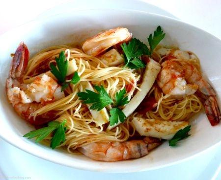 shrimp angel hair recipe dishmaps