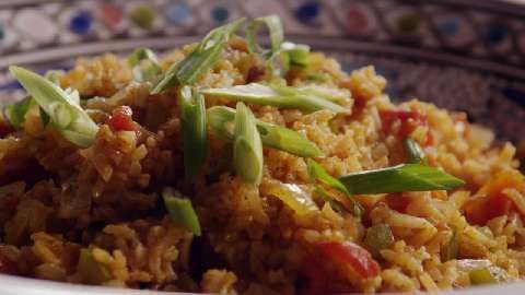 Spanish Rice II Allrecipes.com Use chicken broth instead of water
