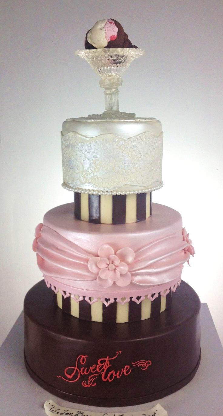 Neapolitan Ice Cream Wedding Cake Wedding Cake Art 4 Pinterest