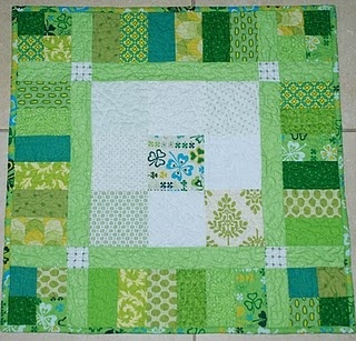 St Patrick's Day quilt