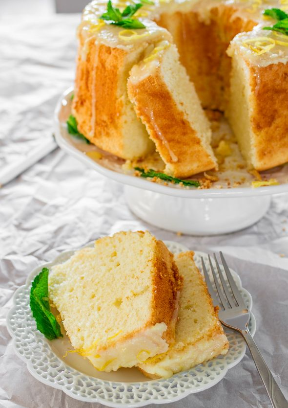 This Lemon Chiffon Cake is very light and soft and it's topped a ...