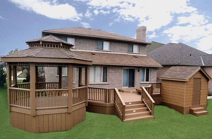 All low maintenance deck built by