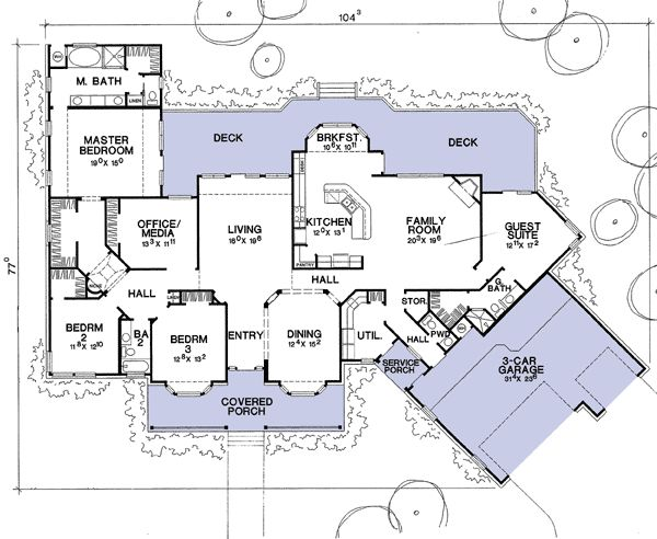 Flexible house plan with guest suite Guest house layout plan