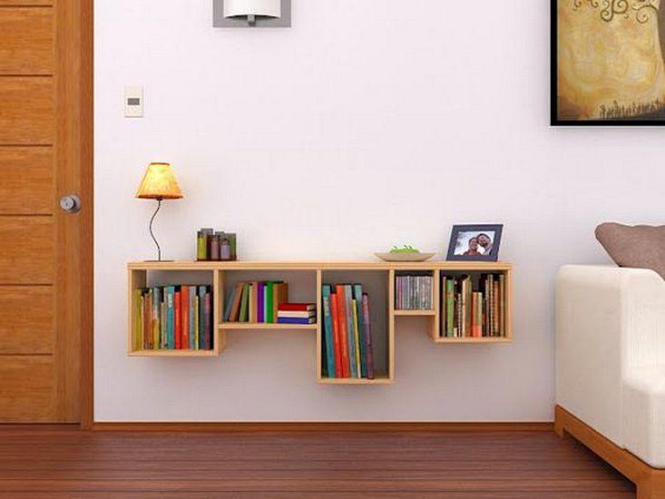 Modular wall shelves for books