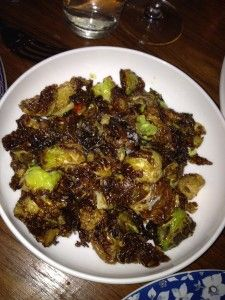 ... Brussels sprouts with chili-caramel at http://saxonandparole.com