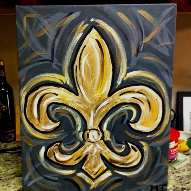 My fleur de lis painting with a twist louisiana - Fleur paint ...