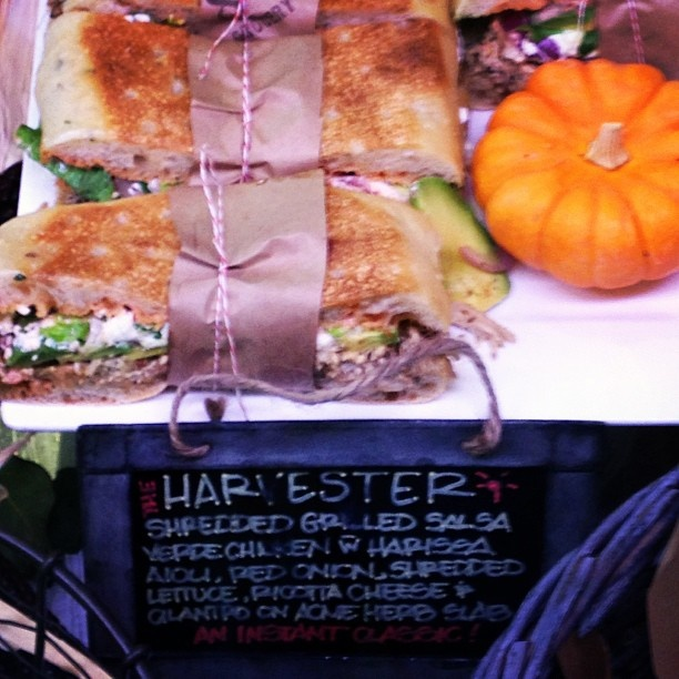 sandwich creation at Oakville Grocery: shredded salsa verde chicken ...