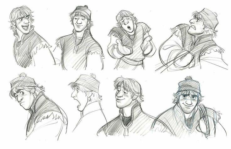 Kristoff Frozen Concept art :) | Disney Sketches | Pinterest
