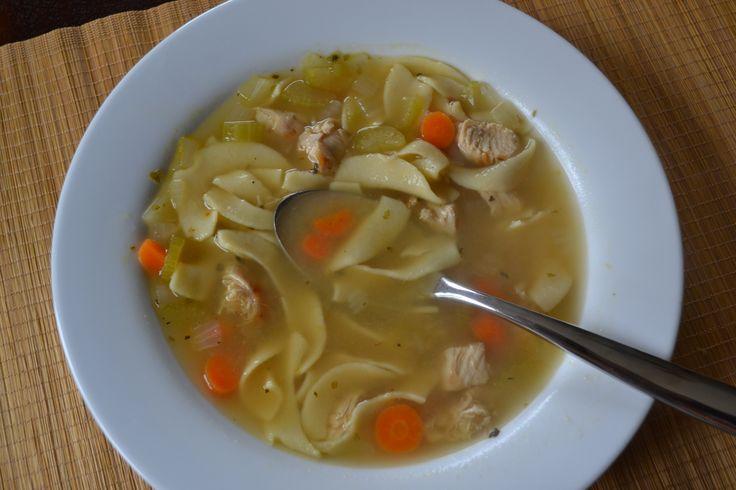 Easy chicken noodle soup | ww recipe | Pinterest