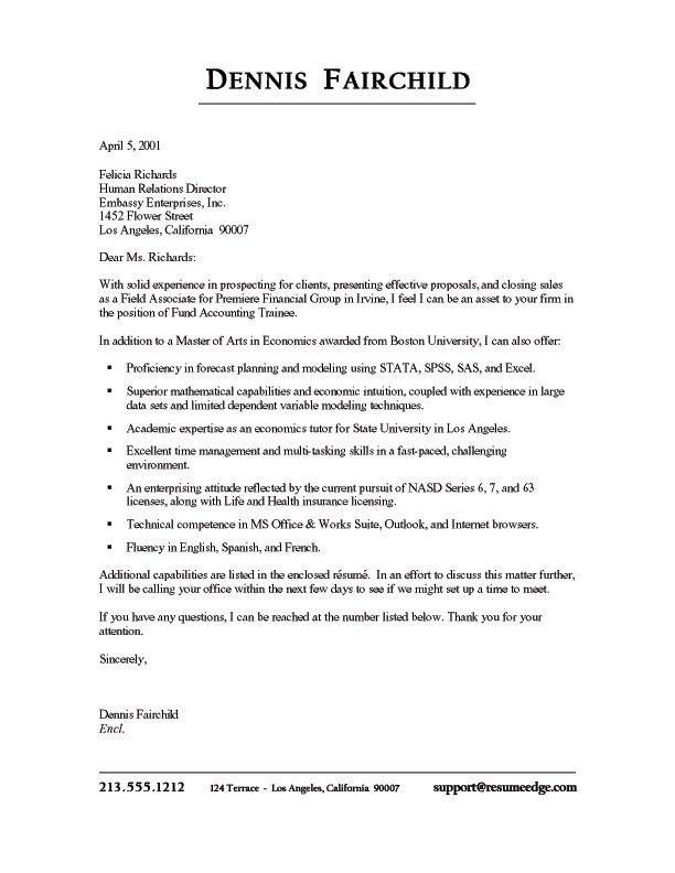 Sample Cover Letter and Resume | Resume Cover Letter | Pinterest