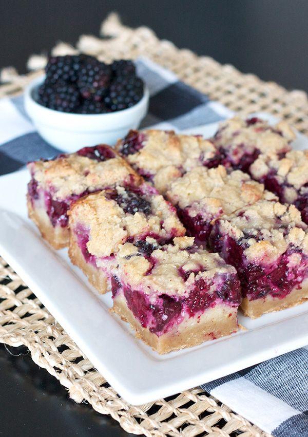 Blackberry Pie Bars http://www.ericasweettooth.com/2013/07/blackberry ...