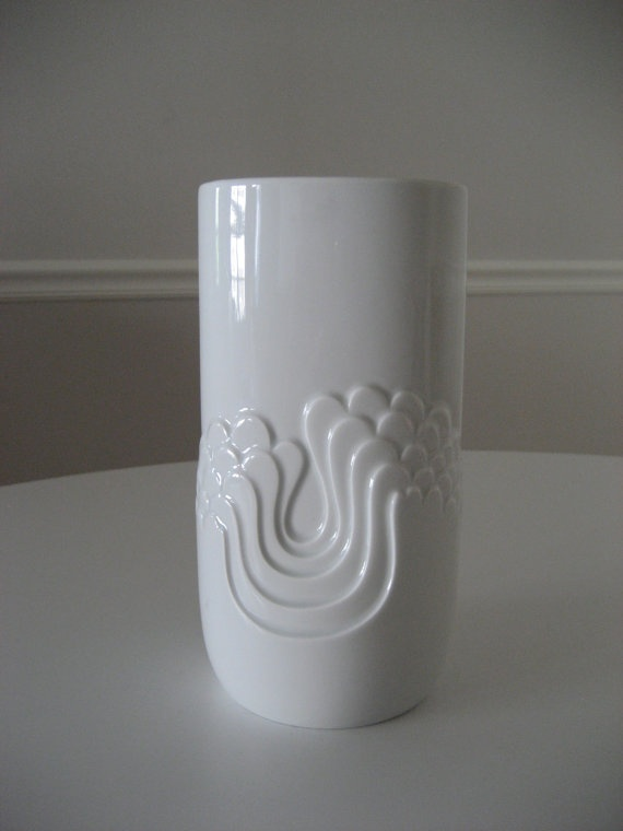 Midcentury West German porcelain vase by SHOPOBJECTS on Etsy, $135.00