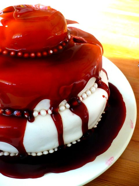 edible blood for cake