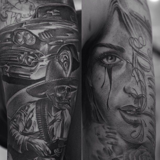 Chicano Themed Tattoo By Jose Lopez  Amazing Tattoos P