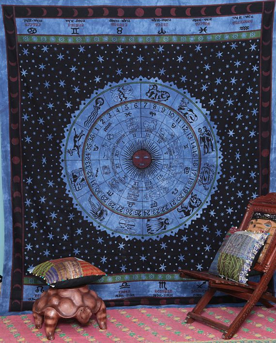 Table Cloth Decorative Bedspread, Indian tapestry, New Age Dorm Decor ...