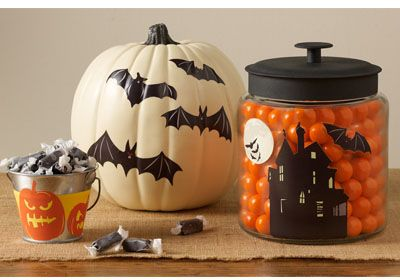 Streamline your Halloween decorations with simple cutouts and Martha Stewart Crafts Decoupage #marthastewartcrafts