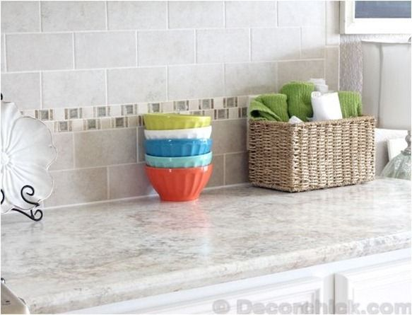 Countertop Lip : laminate countertops...? Emily from Decor Chick proves that modern ...