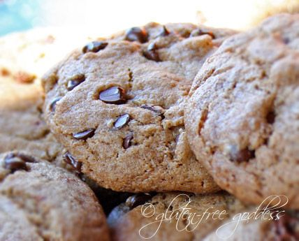 Buckwheat chocolate chip cookies. Made them today, and while the first ...