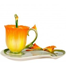 Morning Glory Shaped Tea Cup And Saucer | Products I Love | Pinterest