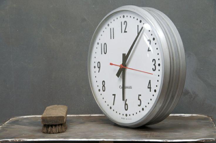 cincinnati shop clock clocks pinterest. Black Bedroom Furniture Sets. Home Design Ideas