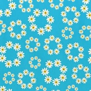 daisy print blue yellow white